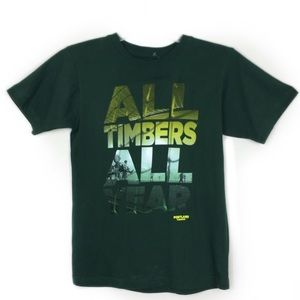 Adidas Green Short Sleeve Timbers T-Shirt, size 8s